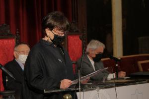 Intervención de Margarita Ledo na homenaxe da AE-IC